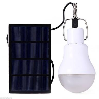 billige Lommelykter & campinglykter-S-1200 LED Lyspærer 110 lm LED LED 12 emittere med batteri Solkraft Energisparing Camping / Vandring / Grotte Udforskning Dagligdags Brug Hvit