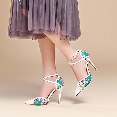 Escarpin Femme Chaussures Chaussures Verni Cuir D'Orsay Polyuréthane Talons à Eté Talon Aiguille Basique amp; Pièces Printemps 06574372 Deux wwAvqnSr