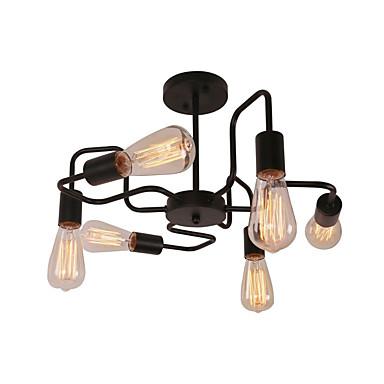 CXYlight 6 świateł Żyrandol / Podtynkowy Światło rozproszone Malowane wykończenia Metal 110-120V / 220-240V Nie zawiera żarówek