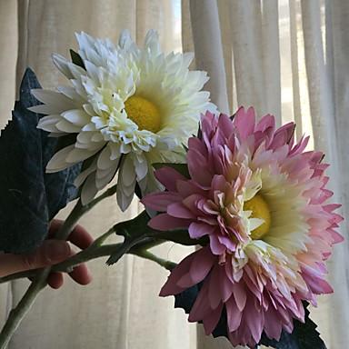 פרחים מלאכותיים 1 ענף כפרי / סגנון מינימליסטי חמניות פרחים לשולחן