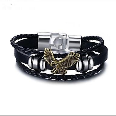 baratos Bangle-Homens Bracelete Geométrico Animal Liga Pulseira de jóias Preto Para Presente Diário