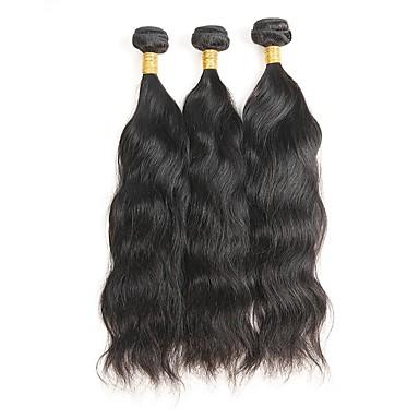 baratos Extensões de Cabelo Natural-3 pacotes Cabelo Mongol Ondulado Natural 10A Cabelo Natural Remy Cabelo Humano Ondulado Tramas de cabelo humano Extensões de cabelo humano
