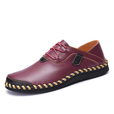 Męskie Komfortowe buty Skóra nappa / Skóra bydlęca Wiosna / Jesień Adidasy Spacery Czarny / brązowy / Wino