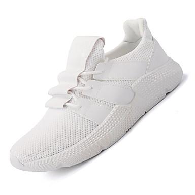 Men's Tulle Spring / Fall Comfort Athletic Shoes Running Shoes White White / Black / White Shoes / Orange / Black 637c91