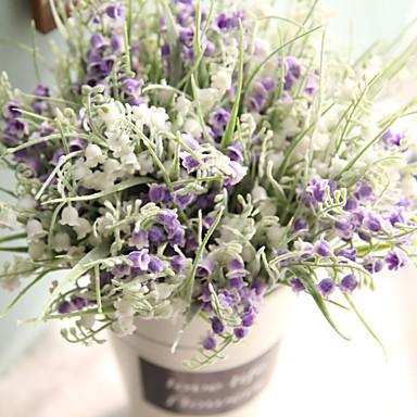 פרחים מלאכותיים 1 ענף כפרי / וינטאג' פרחים נצחיים פרחים לשולחן