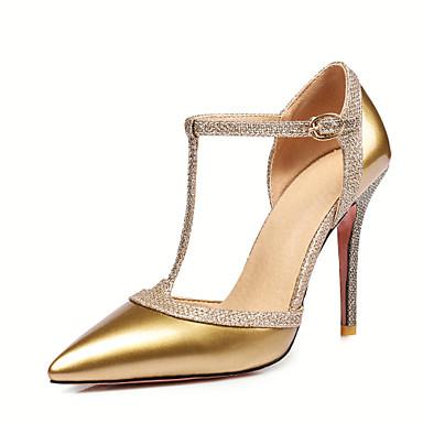 ราคาถูก รองเท้าส้นสูงผู้หญิง-สำหรับผู้หญิง รองเท้า หนังสิทธิบัตร ฤดูใบไม้ผลิ / ฤดูร้อน D'Orsay และสองชิ้น / ปั๊มพื้นฐาน รองเท้าส้นสูง ส้น Stiletto Pointed Toe