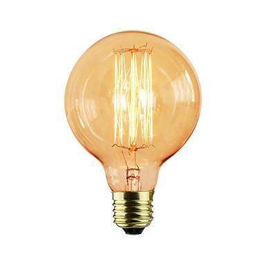 abordables Ampoules électriques-1pc 40 W E26 / E27 G95 Jaune corps Transparent Ampoule incandescente Edison Vintage 220-240 V