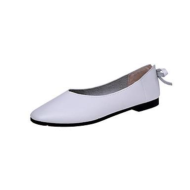 Damen Schuhe PU Frühling Sommer Komfort Sandalen Kitten Heel-Absatz Spitze Zehe Niete Schnalle für Party & Festivität Kleid Beige Braun