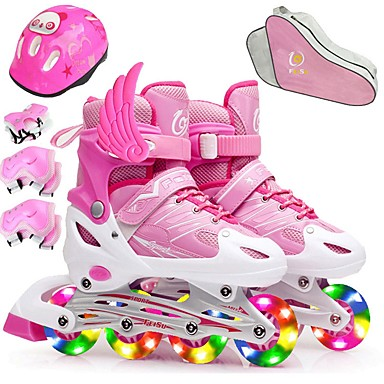 cheap Scooters, Skateboarding & Rollers-Girls' Inline Skates Kid's / Child's Walking / Jumping Red / Blushing Pink / Purple Sports & Outdoor