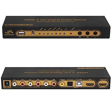 dts ac3 hdmi 5.1 cyfrowy dekoder audio konwerter 4k * 2k hdmi do hdmi przełącznika ekstraktor z usb hifi spdif optyczny coxial arc ape flac