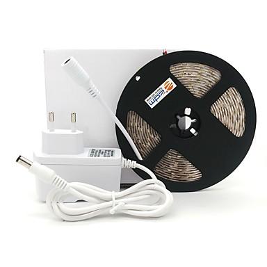 preiswerte Dekorative Beleuchtung-ZDM® 5m Lichtsets 300 LEDs 2835 SMD 1 Gleichstromkabel / 1 x 12V 2A Adapter / 1 x 2A Netzteil Warmes Weiß / Kühles Weiß Wasserfest / Schneidbar / Für Fahrzeuge geeignet 12 V 1pc