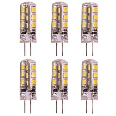 WeiXuan 6 szt. 2 W 160 lm G4 Żarówki LED bi-pin T 24 Koraliki LED SMD 2835 Ciepła biel / Zimna biel 12 V / RoHs