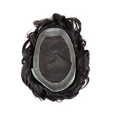 cheap Toupees-Men's Human Hair Toupees 100% Hand Tied Best Quality / Hot Sale / 100% kanekalon hair