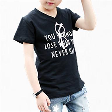 Infantil Para Meninos Floral Floral Manga Curta Algodão Camiseta
