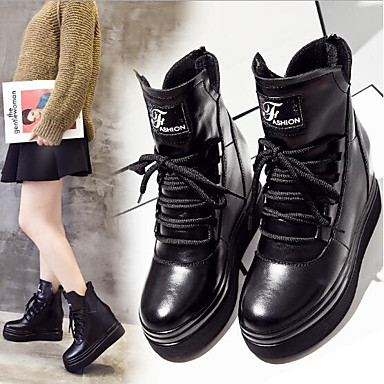 Printemps Bottes compensée Tulle Hiver Hauteur Confort Chaussures de 06647365 Noir semelle Polyuréthane Femme qnpYf16q