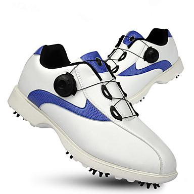 Homens Sapatos para Golf Borracha Golf, Vestível, Respirável Pele Napa / Pele Branco e Preto