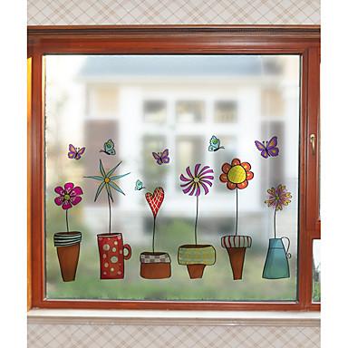 Folie okienne i naklejki Dekoracja Współczesny Kwiat PVC Naklejka okienna / Matowy / a / hol / Salon