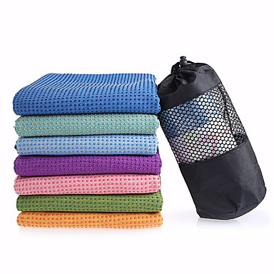 Yoga Towel Odor Free Eco-friendly Non-Slip Microfibre for Yoga Pilates Bikram 27.0*22.0*10.0 cm Violet Light Blue Light Pink