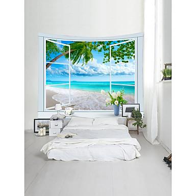Strand Landschaft Wand-Dekor 100% Polyester Klassisch Modern Wandkunst, Wandteppiche Dekoration