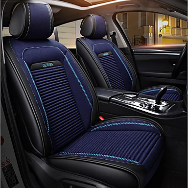 cheap Car Seat Covers-ODEER Seat Covers Black/Blue Textile PU Leather Common for universal All years All Models
