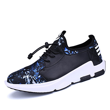 Hombre Zapatos Malla Primavera / Otoño Suelas con luz Zapatillas de Atletismo Paseo Negro / Azul / Negro / blanco n9vyWuBlv
