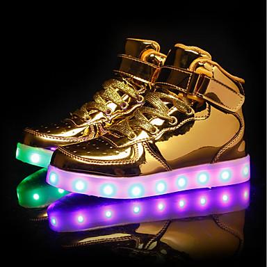 Dječaci / Djevojčice Cipele PU Proljeće Svjetleće tenisice Sneakers LED za Obala / Crn / Pink