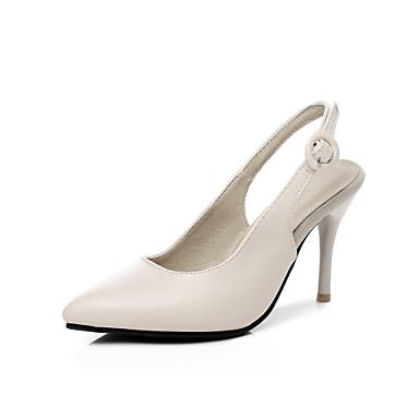 Mujer Zapatos PU Primavera verano D'Orsay y Dos Piezas Tacones Tacón Stiletto Dedo Puntiagudo Negro / Almendra TUWOUt