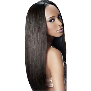 Düz Brezilya Saçı Düz Virgin Saç İnsan saç örgüleri 3 Paket İnsan saç örgüleri Yumuşak / Siyah İnsan Saç Uzantıları