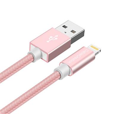 Oświetlenie Adapter kabla USB Wysoka prędkość / Szybka opłata Kable Na iPhone 15 cm Na Nylon