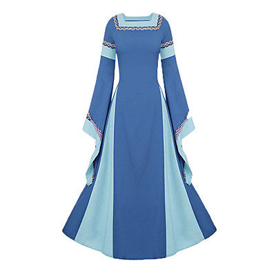 Cosplay Medieval Renaissance Costume Women's Dress Party Costume Costume Purple / Blue / Red Vintage Cosplay Long Sleeve Bell Sleeve