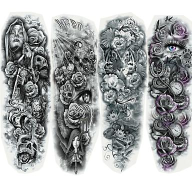 ieftine Frumusețe & Păr-4 pcs Acțibilde de Tatuaj Tatuaje temporare Cartoon Series Arta corpului Faţă / Corp / mâini