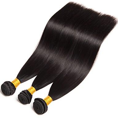 저렴한 가발 & 헤어 연장-3 개 묶음 브라질리언 헤어 직진 8A 인모 인모 연장 8-28 인치 자연 색상 인간의 머리 되죠 뜨거운 판매 쉐딩 무료 엉킴이 없다 인간의 머리카락 확장 여성용