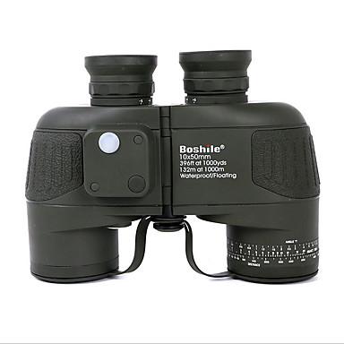 10X50 Kikkerter Afstandsmåler Vandtæt Militær Taktisk Kompas BAK4 Fuld multi-coated 132/1000 Uafhængigt fokus Central fokusering