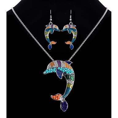 Damskie Biżuteria Ustaw - Delfin Etniczne, Kolorowy Zawierać Tęczowy Na Kij Bar