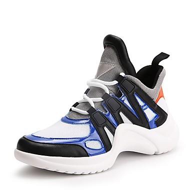 Printemps Eté Talon 06647831 de PU Jaune synthétique Basket microfibre bleu Femme Noir Confort Chaussures Plat Bleu CxwgXqqSH