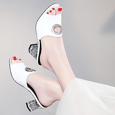 Eté Basique Sandales Chaussures Automne Paillette 06648924 Bottier Brillante Escarpin Verni Talon Femme Blanc Gladiateur Cuir Noir pWXgcAnv