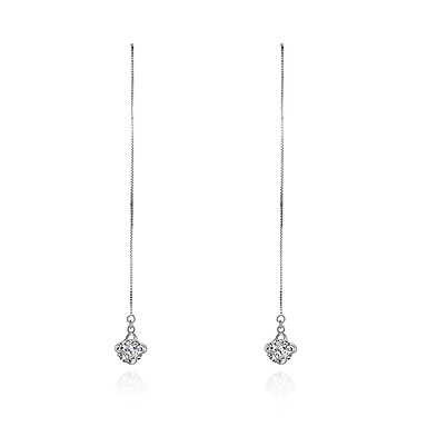4b4ea7f02662 Women s Cubic Zirconia Drop Earrings S925 Sterling Silver Earrings Ladies  Fashion Jewelry Silver For Party   Evening Daily