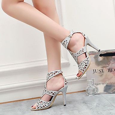 Evénement Aiguille Rose Femme amp; Confort Sandales Similicuir Or 06640569 Bout Soirée Eté Talon Argent Chaussures ouvert 66AfqY