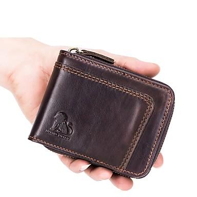 7487599207 laoshizi τσάντες ανδρών δερμάτινο πορτοφόλι φερμουάρ μαύρο   καφέ