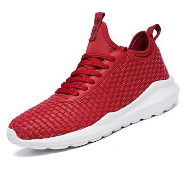 Hombre Zapatos Red / Tul Verano Confort / Suelas con luz Zapatillas de deporte Running / Tenis / Paseo Blanco / Negro / Azul jEWjN