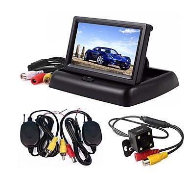 ziqiao 3 w 1 bezprzewodowy monitor do parkowania monitor wideo system składany składany monitor samochodowy z zestawem bezprzewodowych kamer tylnych widok