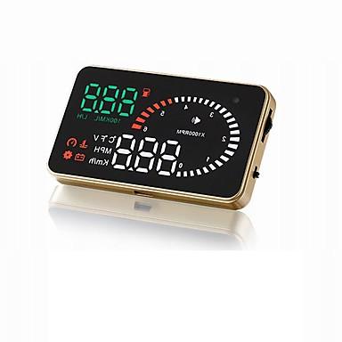 W02 3.5 in LED Przewodowa 3.5 in Wyświetlacz Head Up Wskaźnik LED / Alarm / Podłącz i graj na Samochód / Autobus / Ciężarówka Zmierz prędkość jazdy / Prędkość jazdy / Wyświetlacz KM / h MPH