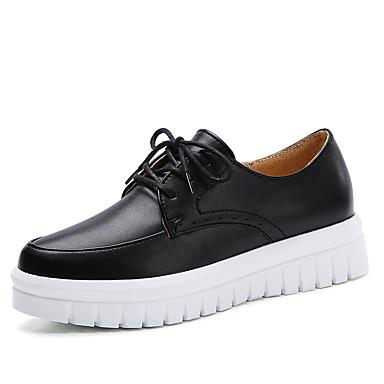 Confort hiver Chaussures Automne Basket 06686382 Femme Noir Cuir Blanc Plateau wqFItwp