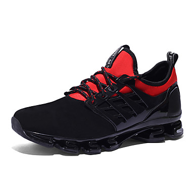 Unisex Pantofi Imitație Blană Toamna iarna Confortabili Adidași de Atletism Alergare Toc Drept Negru / Negru / Roșu / Negru / Verde