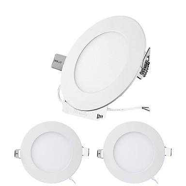 ZDM® 3pcs 3W 15 LED-uri Ușor de Instalat / Încastrat Lumini Panel / LED Tavan Alb Cald / Alb Rece / Alb Natural 85-265V Rezidențial /