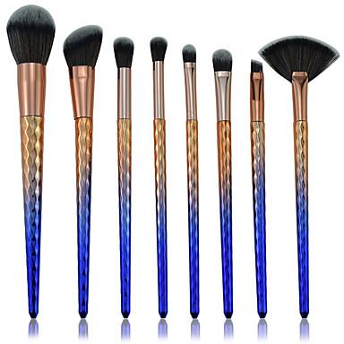 8szt Pędzle do makijażu Profesjonalny Zestawy Brush Włókno nylonowe Ekologiczne / Kolorowe Plastik