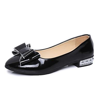 Pentru femei Pantofi PU Primăvară Confortabili Pantofi Flați Toc Jos Negru / Rosu / Roz