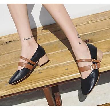Chaussures Noir Talon Polyuréthane 06666339 à Confort Talons Chaussures Femme Amande Bottier Printemps Jane Mary xFBYzqPT