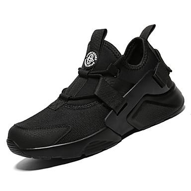 Men's Light Soles Mesh Fall White Athletic Shoes Walking Shoes White Fall / Black / Black / White 29ec16