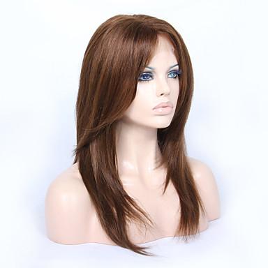 Ubehandlet hår Helblonde / Blonde Forside Parykk Brasiliansk hår Rett Lagvis frisyre 130% / 150% tetthet Med babyhår / Naturlig hårlinje / Afroamerikansk parykk Dame Kort / Medium / Lang